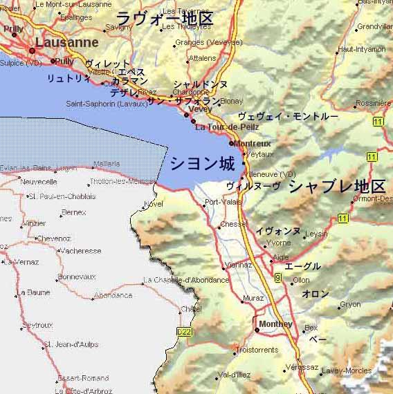 ラ・コート地区の写真 ラヴォー地区、シャブレ地区の地図 ラヴォー地区、シャブレ地区の写真(必見!